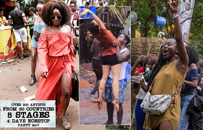 Some of the fans at the previous Nyege Nyege festivals in Jinja