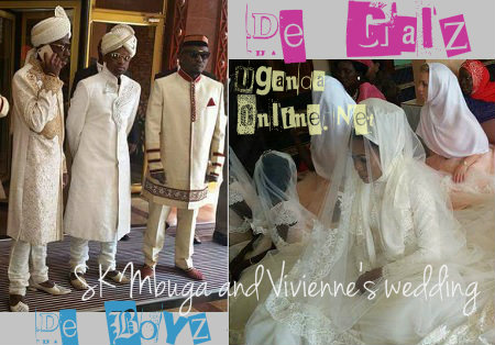 The Mbuga's on their wedding day