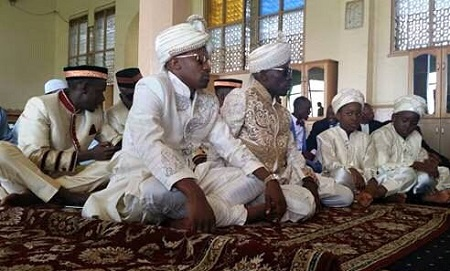 The best man and Mbuga at Old Kampala mosque