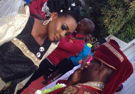 Mbuga could not control his tears on seeing the bride