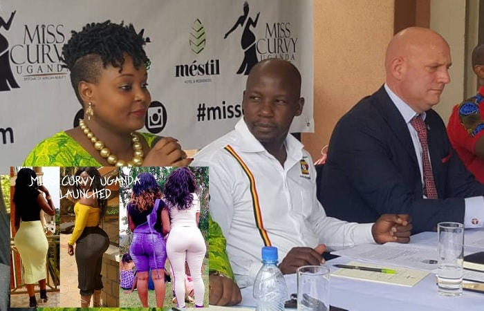 During the launch of Miss Curvy Uganda at Mestil Hotel