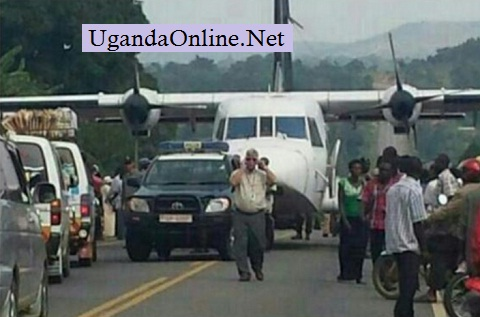Uganda Police takin care of teh traffic on Mityana-Kampala highway
