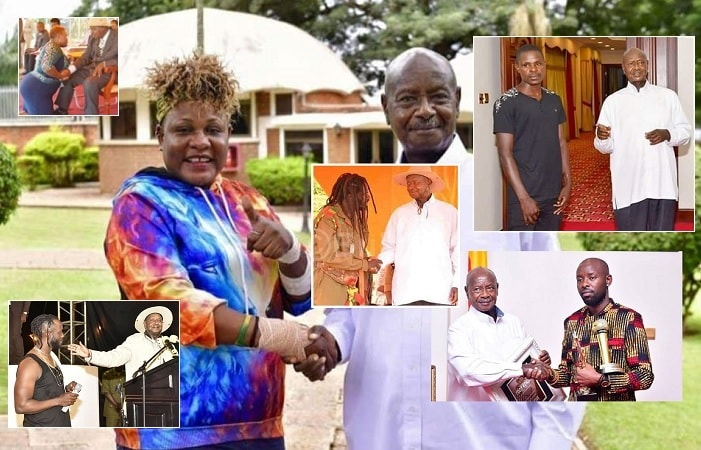 Buchaman, Eddy Kenzo, and Full Figure join Bebe Cool and Catherine Kusasira on the list of artists who have met the President
