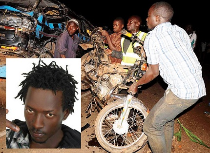 The boda-boda that caused the accident