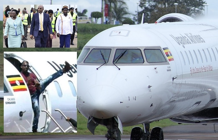 Uganda Airlines first flight had Moses Golola on board who could not hide his excitement