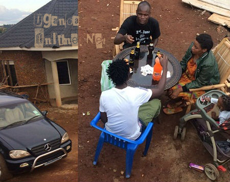 Mun G and his babay mama spent mothers day at the Namugongo based home