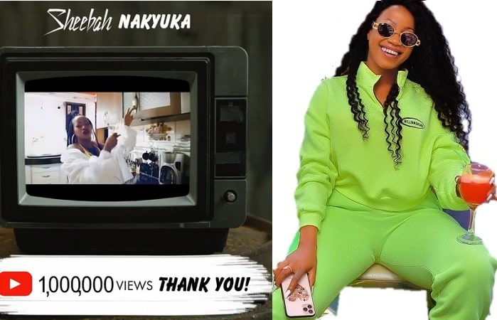 Sheebah excited as her Nakyuka video hits 1 Million in 2 months