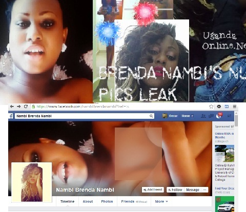 Brenda Nambi topless shots are now facebook cover