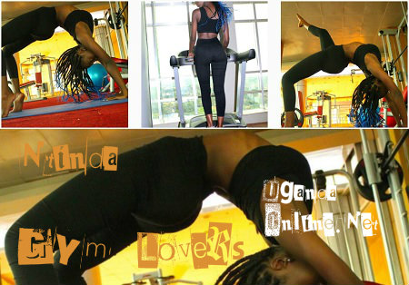 Model Lolah Adhama keeping fit