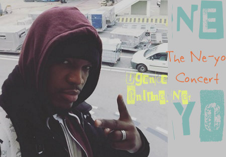 Ne-yo before boarding for Entebbe