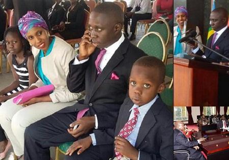 Kampala Central MP, Muhammad Nsereko and family