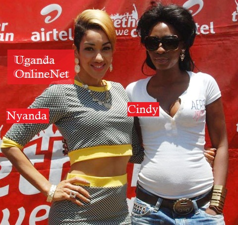 Nyanda and Cindy at the Airtel Offices in Kampala