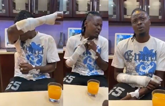 Pallaso breaks down while explaining his ordeal