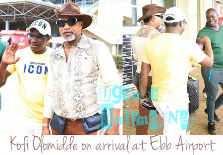 Pemba and Koffi Olomide at Entebbe Airport