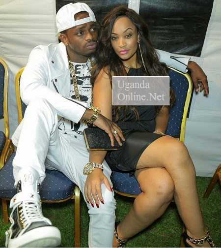 Diamon Platnumz and Zari after the Rwanda show