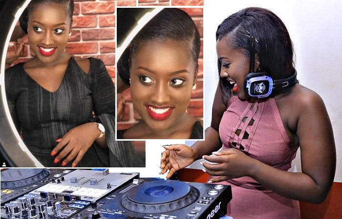 Martha Kay trying out her DJ skills