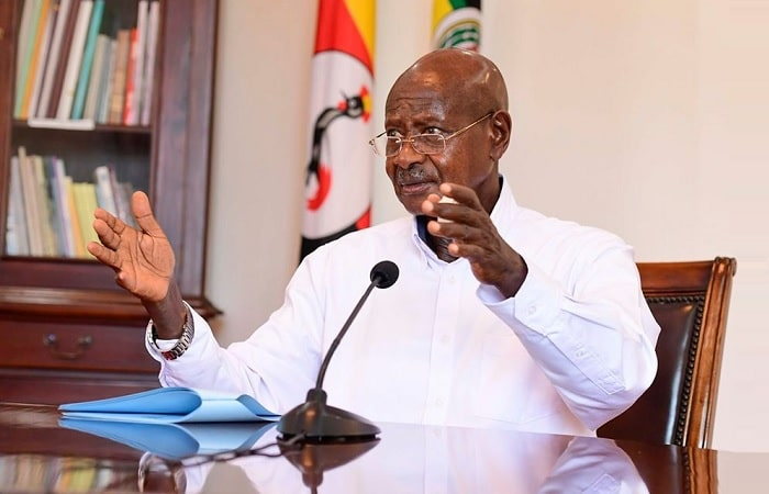 President Museveni at State House in Entebbe