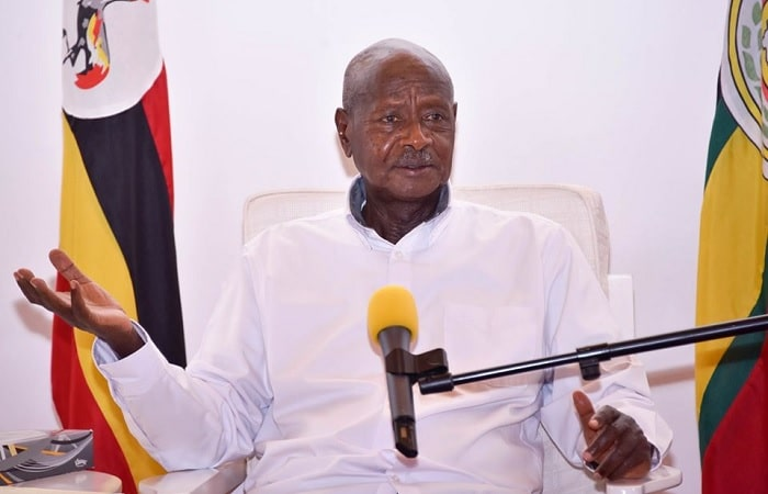 President Museveni while addressing the nation on the COVID-19 disease