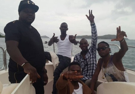 Radio and Weasel chilling out in Seychelles