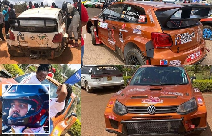 Rajiv Ruparelia's car before and after the Mbarara accident