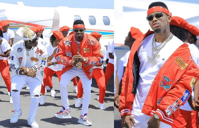 Rayvanny and Diamond Platnumz doing their thing in the Tetema video