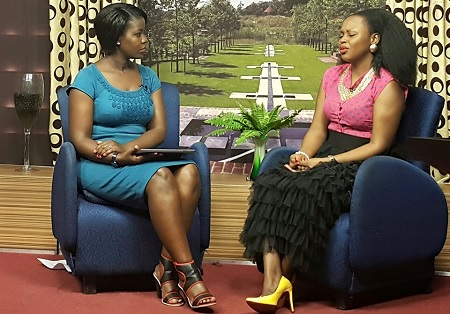 Rema during her interview on Mwasuze Mutya program