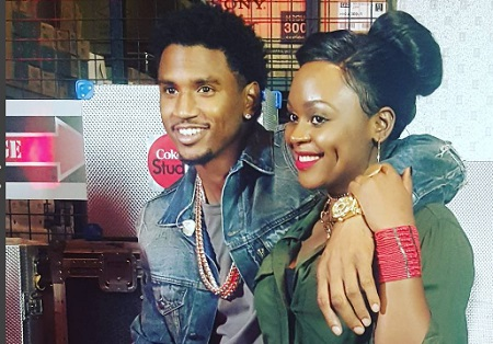 Trey Songz and Rema at the Coke Studio in Nairobi