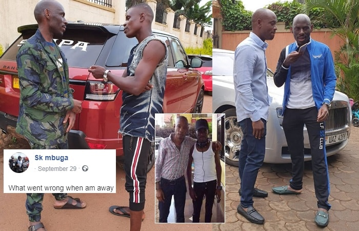SK Mbuga chats with Sipapa and inset, he is seen with Bryan White back then