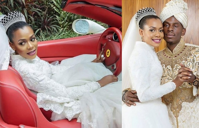 SK Mbuga and Jalia Vivienne Mbuga on their wedding day