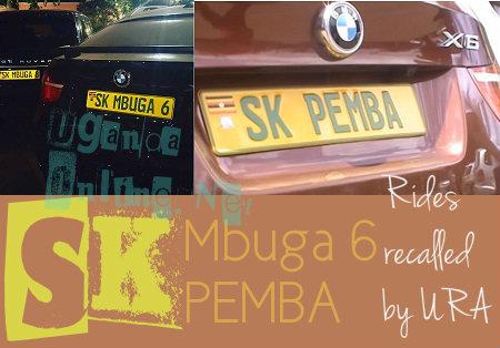 Mbuga and Pemba's BMW X6 recalled by URA