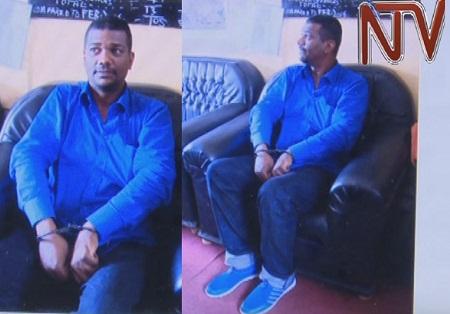 Salim Uhuru after being arrested