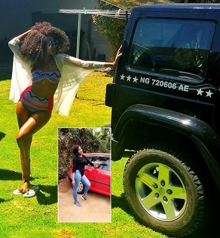 The Way singer, Sheebah strikes a pose