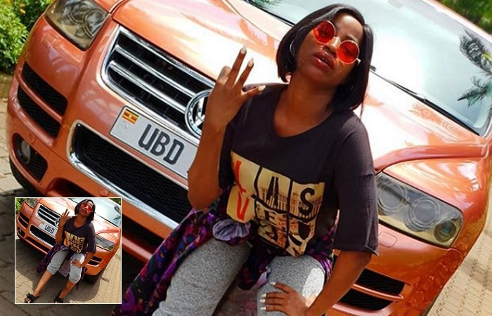 Sheebah Karungi showing off her new ride