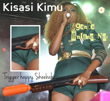 Sheebah looked trigger happy while performing her Kisasi Kimu hit
