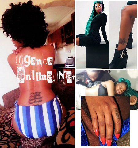 Sheebah Karungi's tattoos