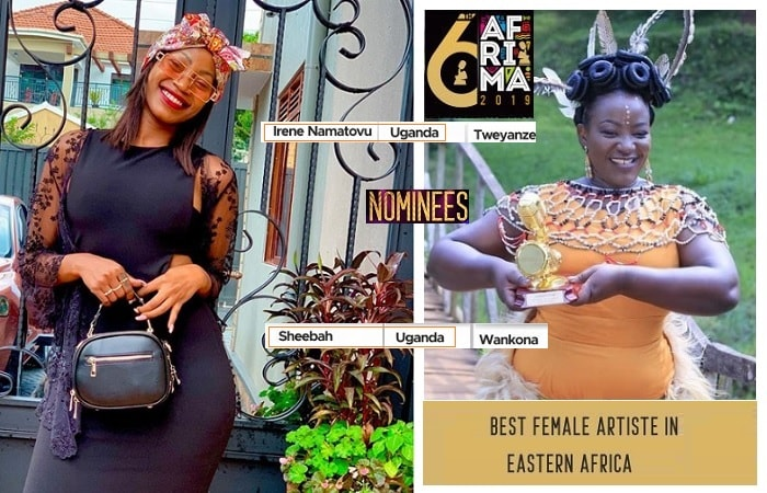 Sheebah Karungi and Irene Namatovu are the only Ugandan nominees in the 6th AFRIMA awards