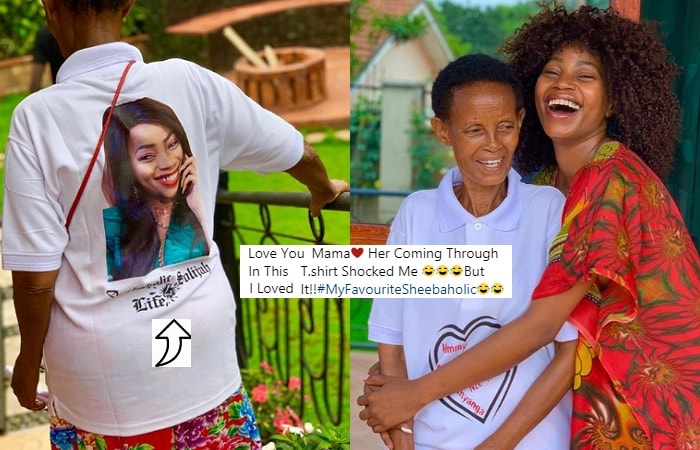 Sheebah's favorite fan is her mom, Edith Kabazungu