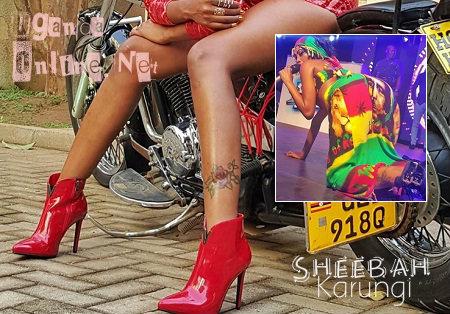 Sgheebah Karungi leg tattoo