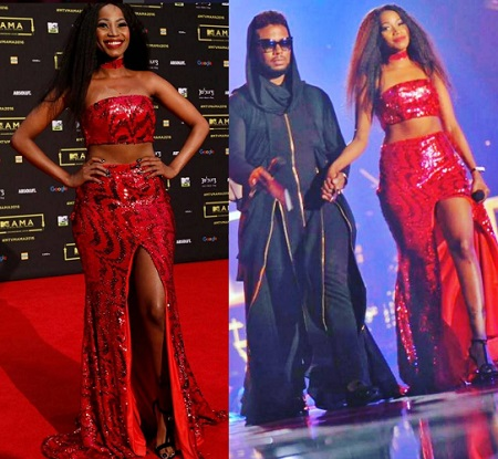 Inset is Sheebah with David Tlale a South Africa Designer