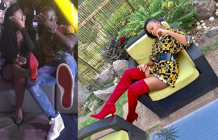 Red Bottoms - Sheila Gashumba puts on her lover's shirt