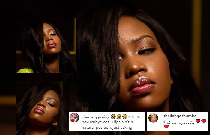 Sheila Gashumba does not deny or confirm that she was beaten