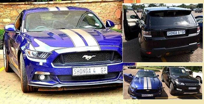 Shonga's Ford Mustang and Range Rover Sport