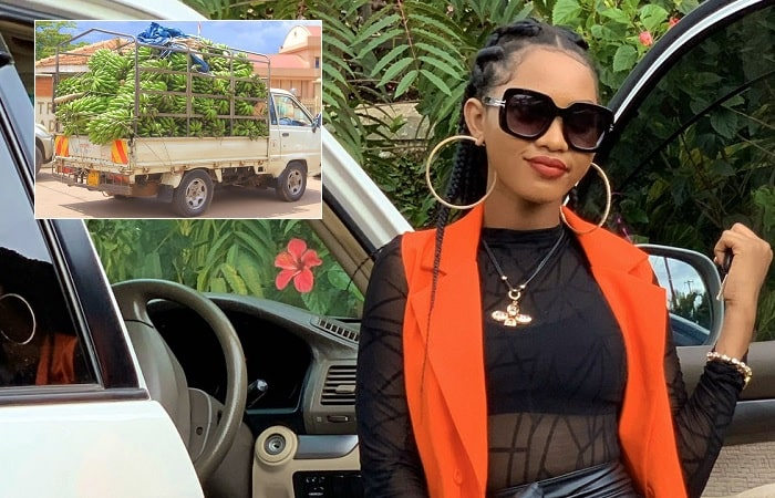 Spice Diana donates Matooke to the vulnerable poor