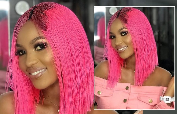 It is a pink affair for Spice Diana
