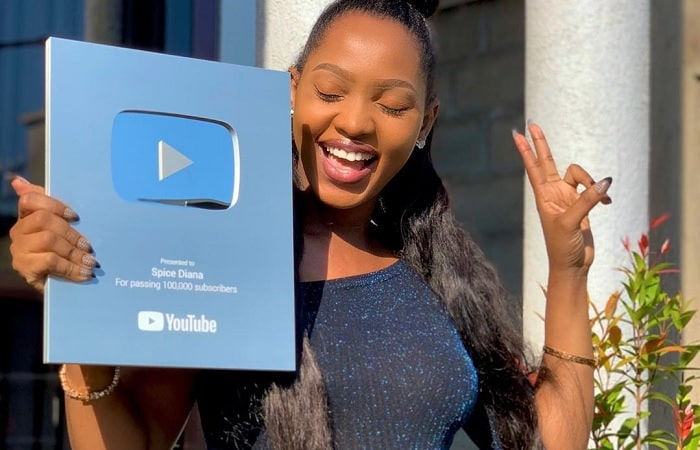 All smiles as Spice Diana winsa YouTube award