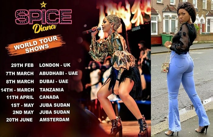 Spice Diana's tour dates
