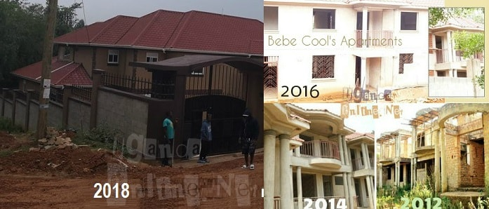 Progress of Bebe Cool's apartments over the years