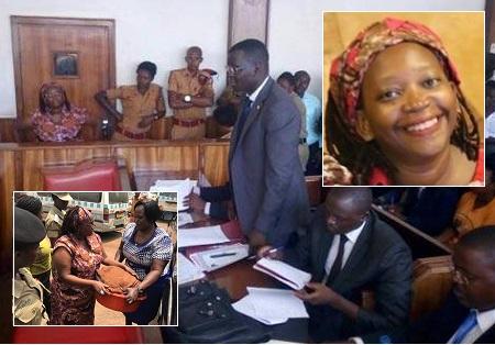 Stella Nyanzi at Buganda Road Court on April 10, 2017