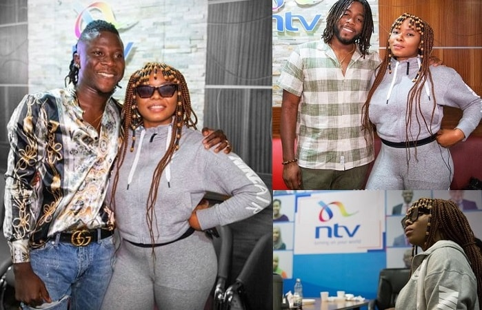 Ghana's Stonebwoy and Jamere Morgan of Morgan Heritage strike a pose with Yemi Alade