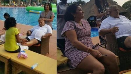 Crane Bank's CEO Sudhir Ruparelia and wife at Munyonyo